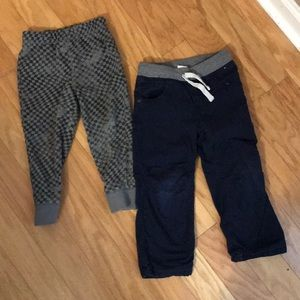Boy Pants Navy and Gray Size 3T